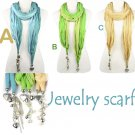 two-tone jewelry scarf beads charms fashion woman shawl tassels charms NL-1921