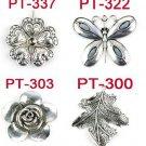 4 styles 12 pcs/lot Metal Flower butterfly leaf pendant scarf DIY accessories