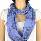 vintage style Braid infinity scarf endless flower print scarf ring hood NL1999D