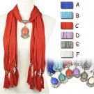1 pcs Resin stones charms winter jewelry scarf 6 colors Christmas gift NL-1940