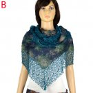 Sexy Net waved lady scarves triangle shape hollow out fringe scarf wrap NL1998