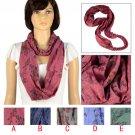 Braid infinity endless flower pringting scarves scarf rings hood LOT NL-1999