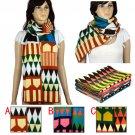 Kintting warm scarf winter shawl geometry shape long scarf 207*36cm NL-1983