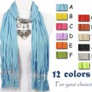 Fashion 12 colors butterfly pendant scarf free shipping jewelry scarf, NL-1789