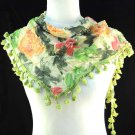 1 pcs Floral print triangle shawl fashion lady scarf multicolor new NL-1518