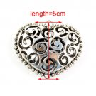 20 pcs alloy hollpw out heart pendant DIY jewelry findings scarf accessory PT305
