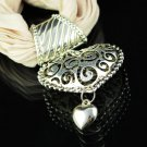 1 pc Lady fashion metal jewelry heart pendant scarf new design necklace, NL-1495