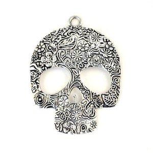 2 pcs/lot metal skull head pendan DIY jewelry scarf accessories fashion PT-505