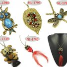 mix designs necklace group fashion pendant owl leaf dragonfly chain necklace