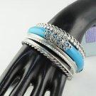 multilayer blue black bangle vintage style fashion woman silver color BR-1237