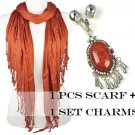 Fashion DIY dream yarn scarf add jewelry resin stone charms NL-1781J PT-631J