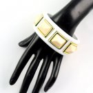 1 pcs White Stereo resin bangles fashion jewelry woman accessories BR-1260