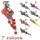 Bohemian Resin charms with bails beads rhinestone DIY jewelry scarf color PT-771