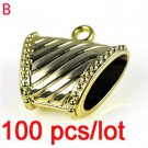 100pcs golden PLASTIC DIY jewelry findings Scarf clasp pendant tube bails PT301B