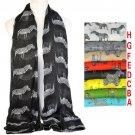 Zebra pattern animal fashion summer women scarf square shawl wrap LOT NL1864