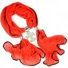 rhinestones Cross pendant scarf,9 colors available,NL-2099