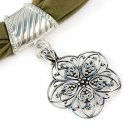 Alloy flower pendant scaf fashion jewelry scarves charms necklace NL-1619