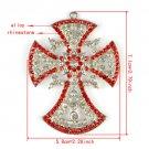 Bling rhinestones cross pendant DIY jewelry scarf necklace accessories PT780