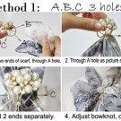 butterfly scarf ring 3 holes silk scarf rings DIY bowknot elegant scarf PT-799