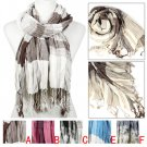 plaid scarf with fringe tassels long winter scarf shawl unisex wrap NL-2092