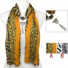 Leopard charms jewelry scarf Leopard print woman scarf shawl 2 colors lot NL2090