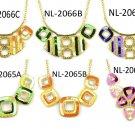 Paillette necklace BIB style collar choker vintage style fashion shiny jewelry