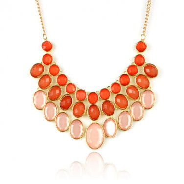 Fashion Spring BIB necklace golden color bubble jewelry chunky choker NL-1952