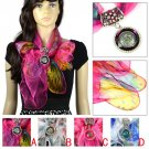 spring yarn jewelry scarf with resin round charms scarf ring tube fashion NL2041