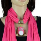 Owl pendant enaml pink scarf fashion jewelry scarves winter woman shawl NL-2050