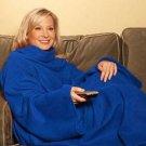 Blue 130*180CM Snuggie Blanket Scarf Fleece Sleeve Rug Body Warmer LT-01