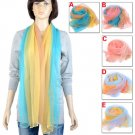 Rainbow color design scarf,fashion scarves with jewelry beads decorationsNL-2134