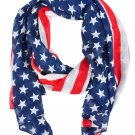 New American Flag Scarf Womens Usa Us Patriotic