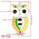 6pcs a lot,owl shaped pendant for DIY scarf accessory,6 styles available,PT-1053