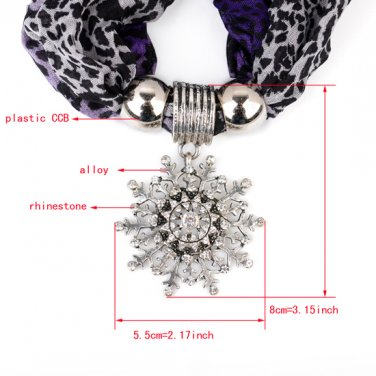 leopard printing scarf with flower drops ending,jewelry scarf,new scarf NL-2140