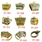 Wholesale 9 Styles 18 pcs gold tube DIY jewelry findings for scarf pendant tubes