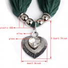 new sparkle heart pendant scarf,crystal stone jewelry scarf,winter scarf NL-2144