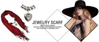 fashion simple retro yarn linen women scarf shawl scarves pearl jewelry NL-2123D