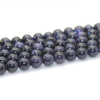 Round Blue Sandstone Gemstone beads for jewelry making GB028