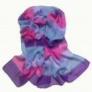 7pcs a lot,rainbow color georgette scarf for autumn,chiffon scarf for her