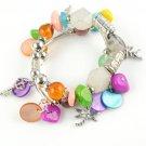 Handmade DIY Colorful Beads Charm Bracelet Beachy Summer Bracelets BR-1121