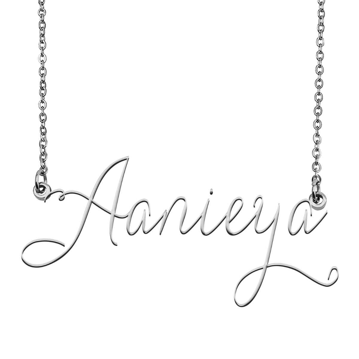 Aanieya Name Necklace Custom Personalized Name Plate Jewelry for Birthday Christmas Gift