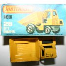 Matchbox New 26 Site Dumper Vintage Collectors Model