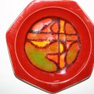 Rare Vintage Poole Pottery Delphis Hexagonal Dish shape 42
