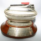 Antique Silver Ronson Varaflame With Royal Tank Regiment 1948 Stand