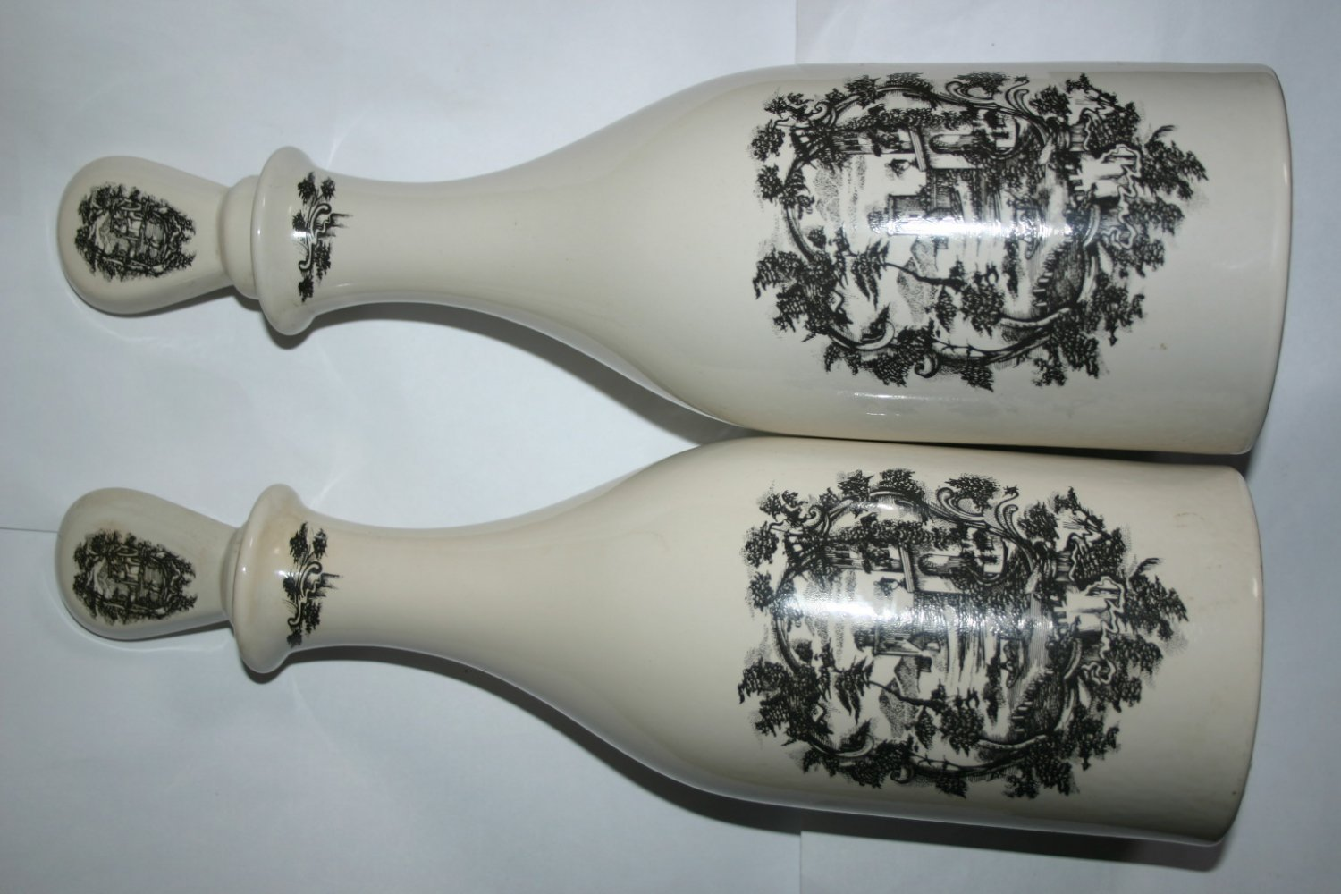 Pair Of Vintage Coalport Limited Edition Spirit Port Corked Decanters