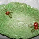 Vintage 1950 Crown Devon Large Tomato and Lettuce Leaf Dish