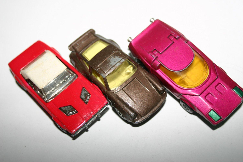 Vintage Matchbox No.39 Clipper No.3 Porsche Turbo and No.1 Dodge Challenger