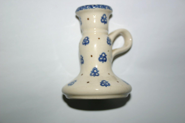 Rare Vintage Boleslaweic Polish Beautiful Ceramic Candle Holder