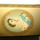 Vintage Souvenir Golden Tin Queen Elizabeth II June 1953 Collectors Item