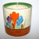 Clarice Cliff Crocus Drum Jam Pot